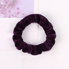 Load image into Gallery viewer, 1PC Women Elastic Hair Ring Winter Soft Velvet Rubber Bands Hair Bands Girls Sweet Solid Color Hair Accessories Ponytail Holder