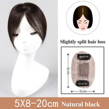 Load image into Gallery viewer, Best Human Hair Toppers For Thinning Hair Women's Straight Clip-in U Part Closure Silk Base Toupee For Women Replacement Hairpiece