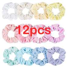 Load image into Gallery viewer, 40/36/12/50 Pcs/Pak  Women Scrunchie Ponytail Holder Flower Scrunchies Pack Hair Ties Elastics Hair Bands for Girls