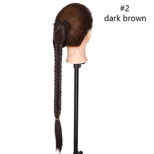 Claw Clip Fishtail Braid Ponytail Hair Extension Long  Hair 21""