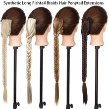 Load image into Gallery viewer, Claw Clip Fishtail Braid Ponytail Hair Extension Long  Hair 21""