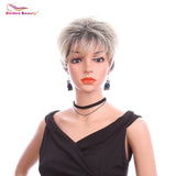 Pixie Cut Short Straight Hair Wig With Bangs