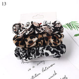 4-6 PCS Scrunchies Hair Ring Candy Color Hair Ties Rope Autumn Winter Women Ponytail Hair Accessories  Girls Hairbands  1 - Set