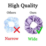 60 PCS Solid Color Silk Satin Hair Bands Women's or Girls' Hairband Suitable For Women's Ponytail Hair Scrunchies