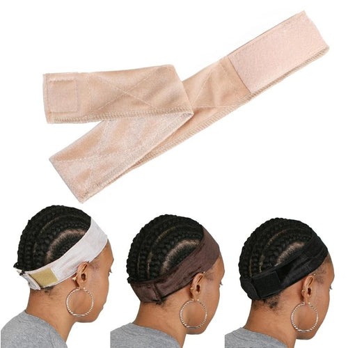 Wig Grip Cap Elastic Headband Velvet Adjustable Non Slip