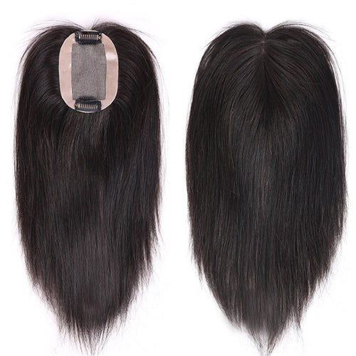 Silk Base Brazilian Remy Human Hair Topper 6