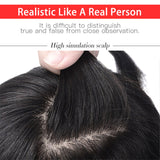 "Silk Base Brazilian Remy Human Hair Topper 6""-18"" Long Straight Clip In Toupee Hair Extensions"
