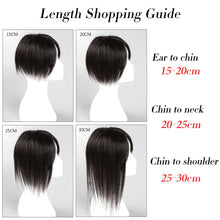 "Load image into Gallery viewer, Silk Base Brazilian Remy Human Hair Topper 6""-18"" Long Straight Clip In Toupee Hair Extensions"