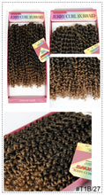 Load image into Gallery viewer, Jerry Curl Crochet Hair Bundles Weave Braiding hair With Ombre Braids