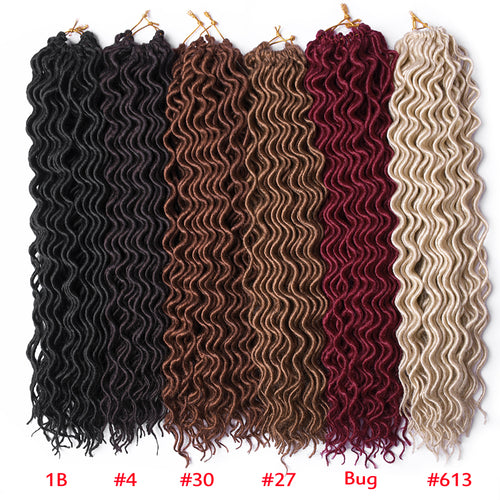 Curly Faux Locs Crochet Hair Braiding Hair Extensions