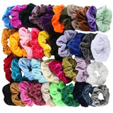 40 Pcs Vintage Hair Scrunchies Stretchy Velvet Scrunchie Pack Women Elastic Hair Bands Girl Headwear