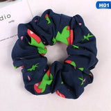 Fashion Hair Accessories Women Flower Scrunchies Pack Elastics Hair Bands For Girls