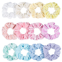 Load image into Gallery viewer, 12 Pack Vintage Hair Scrunchies Stretchy Velvet Scrunchie  Women Elastic Hair Bands