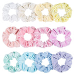 12 Pack Vintage Hair Scrunchies Stretchy Velvet Scrunchie  Women Elastic Hair Bands