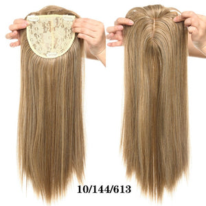 Hair Topper With Bangs For Women Thinning Hair