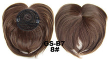 Load image into Gallery viewer, Hairpiece Topper With Women Clip-in Middle Parting Bangs