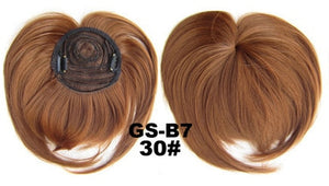Hairpiece Topper With Women Clip-in Middle Parting Bangs