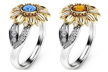 Load image into Gallery viewer, Sunflower Engagement Ring  For Women 10 Colors Copper