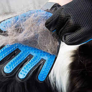 Pet Hair Remover Glove Brush Dog Cat Grooming Massage Soft Bath Deshedding Brush
