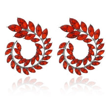 Load image into Gallery viewer, Round Stud Earrings For Women Crystal Luxury Wedding Gift