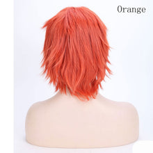 Load image into Gallery viewer, Short Cosplay Wig Anime Hair Red With Bangs For Party