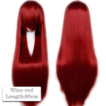 Load image into Gallery viewer, 80cm Long Cosplay Wig Synthetic Anime Hair for Women