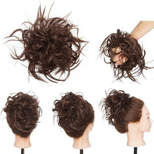 Load image into Gallery viewer, Messy Bun Hairpiece Elastic Band Curly Scrunchie Updo