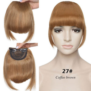 Blunt Bangs Clip In Synthetic Hair Fringe