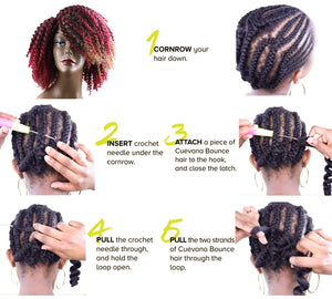 Jerry Curl Crochet Hair Bundles Weave Braiding hair With Ombre Braids