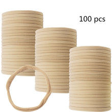 Load image into Gallery viewer, 100Pcs Premium Quality Nylon Nude Headbands - Soft and Stretchy