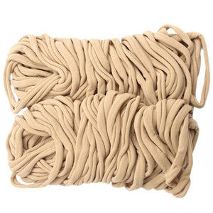 100Pcs Premium Quality Nylon Nude Headbands - Soft and Stretchy