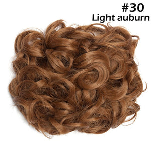 Synthetic Hair Big Bun Chignon Two Plastic Comb Clips