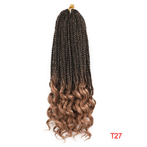 Crochet Box Braid Curly Ends 6 Pack