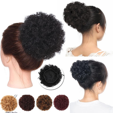 Women High Afro Puff Drawstring Ponytail