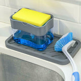 Soap Pump Dispenser and Sponge Caddy Holder 2 in 1 For Kitchen