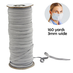 160 Yard Elastic Rubber Band Craft Sewing  3MM Garment Accessories