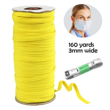 Load image into Gallery viewer, 160 Yard Elastic Rubber Band Craft Sewing  3MM Garment Accessories