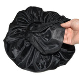 Shower Cap Silk Bonnet Hair Satin Bonnet For Sleeping Bonnet  Women Night Sleep Hair Cap Head Cover Wide Elastic Band