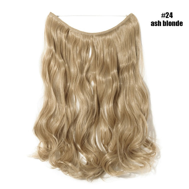 Hair Extensions Invisible Wire No Clips