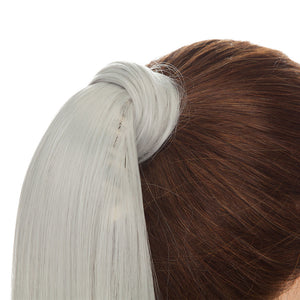 Wrap Around Ponytail Extension Sliver Gray Hair Color For Women
