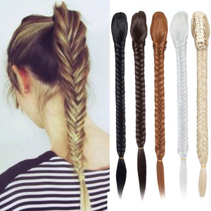 Fishtail Braids Hair Extensions Ponytail For Women