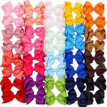 Load image into Gallery viewer, 40 PCS Girls Ribbon Bow Hair Clip Kids Alligator Clips Party Hair Accessories