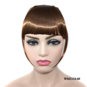 Blunt Bangs Hairpieces Clip In Thin Fake Fringes