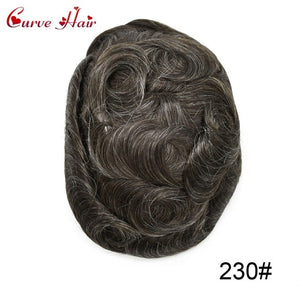 "Mens Replacement System Toupee Hairpiece Full Lace Size 8"" x 10"""