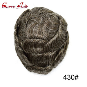 "Full Lace Mens Replacement System Toupee Hairpiece Full Lace Size 7"" x 9"""