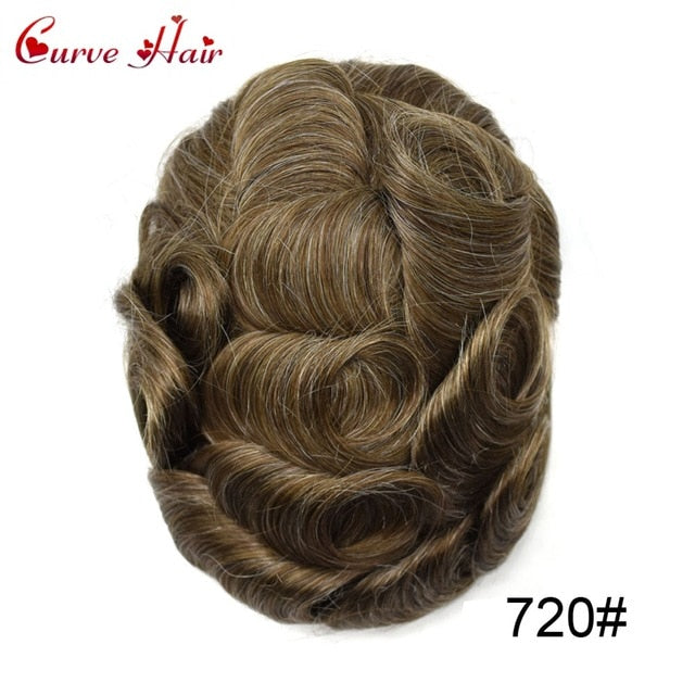 Full Lace Mens Replacement System Toupee Hairpiece Full Lace Size 7