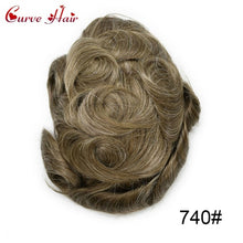 "Load image into Gallery viewer, Full Lace Mens Replacement System Toupee Hairpiece Full Lace Size 7"" x 9"""