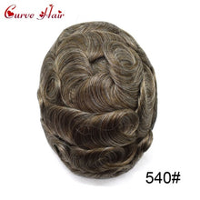 "Load image into Gallery viewer, Mens Replacement System Toupee Hairpiece Full Lace Size 8"" x 10"""