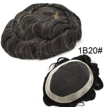 Load image into Gallery viewer, Mens Toupees Hair Replacement System Breathable Lace Front Poly Around