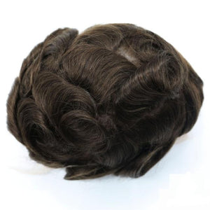 Mens Toupee Hairpiece Replacement System Fine Mono Size : 6x8